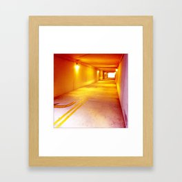 Yellow Echo Framed Art Print