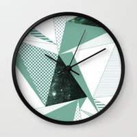 trip Wall Clocks featuring trip by .eg.
