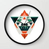 sasquatch Wall Clocks featuring Sasquatch boss by Samuel Boucher