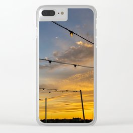 Rooftop Sunset (2) Clear iPhone Case