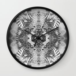 bees black and white Wall Clock