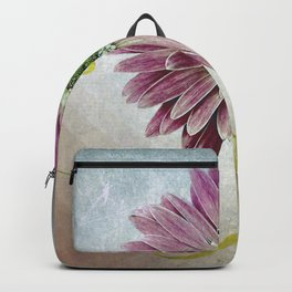 violet daisy with ribbon Backpack