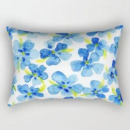 Floating Watercolor Petals Rectangular Pillow