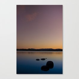 Lake of Menteith by sunset Canvas Print
