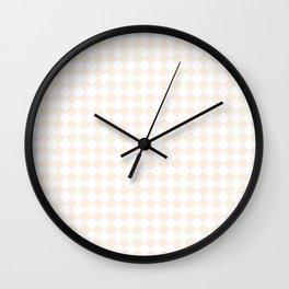 Small Diamonds - White and Linen Wall Clock