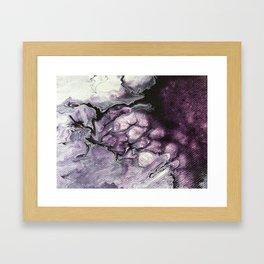 AMETHYST   Acrylic abstract fluid art by Natalie Burnett Art Framed Art Print