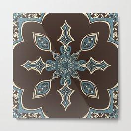 Fancy Pants Mandala - Blue  Metal Print
