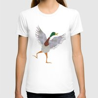 duck T-shirts featuring Duck by Jade Young Illustrations