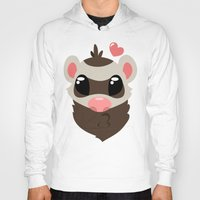 ferret Hoodies featuring Sable Ferret by TheFerrets