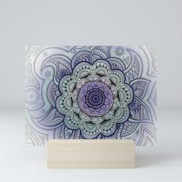 Mandala Violet Mini Art Print