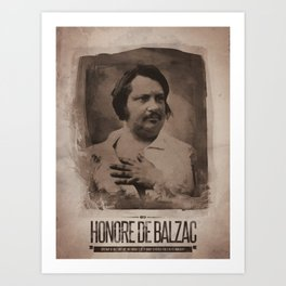 Honore de Balzac Art Print