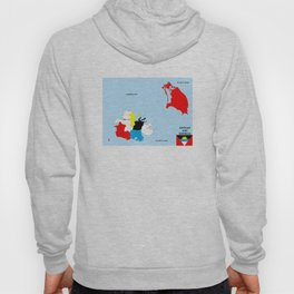 political map of antigua barbuda country with flag Hoody