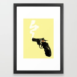 Smoking Gun Framed Art Print
