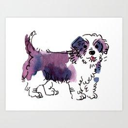 Chewie - Dog Watetcolour Art Print