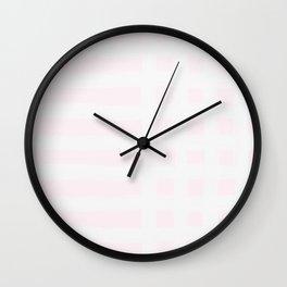 Lavender-Blush Gross Stripes Wall Clock
