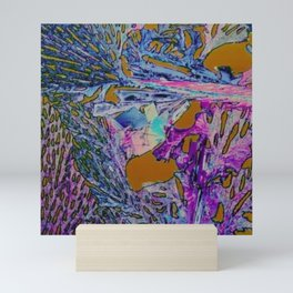 Abstract Rainbow Textured Painting - Tropical Bird Inspired Art Print Part 2 Mini Art Print