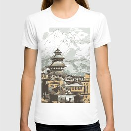Himalayan Temple in Nepal T-shirt
