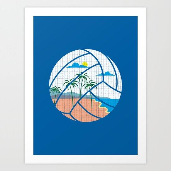Beach Volleyball Art Print