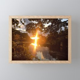 Mystic River Mindfulness Framed Mini Art Print