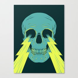 Lightning Skull Canvas Print