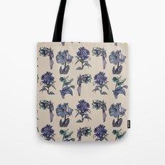 Botanical Florals   Vintage Blueberry Tote Bag