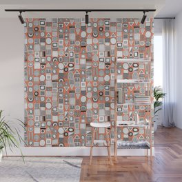 frisson memphis bw orange Wall Mural