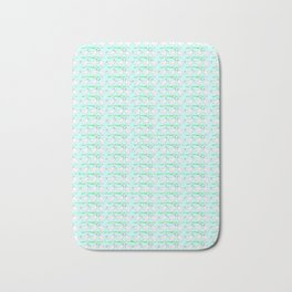 White hen on blue sky Bath Mat