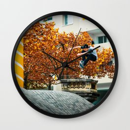Skateboarder - Kickflip Wall Clock