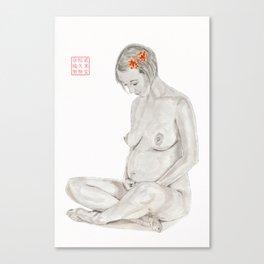 Pregnant Buddha Canvas Print
