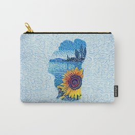 Lake Tahoe Sunflower Carry-All Pouch