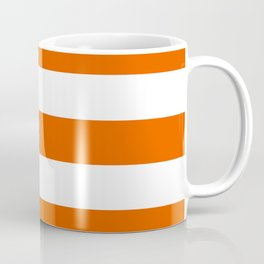 Persimmon - solid color - white stripes pattern Coffee Mug