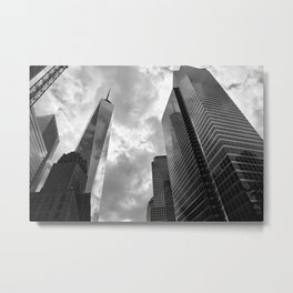 Heaven's Reach in Black and White Metal Print