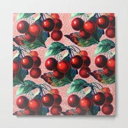 Vintage Cherries Metal Print