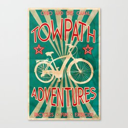 TOWPATH ADVENTURES Canvas Print