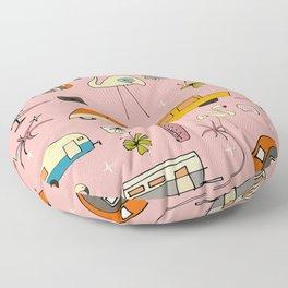 Vintage kitsch Pink Floor Pillow