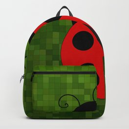Lady Bug On Green Backpack