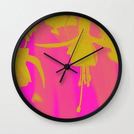 Neon Fuschias Wall Clock