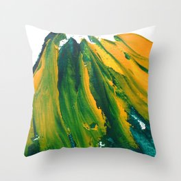 Wings Collection orange/green Throw Pillow