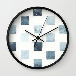 Indigo landscapes Wall Clock