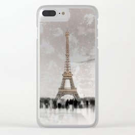 PARIS Collage Clear iPhone Case