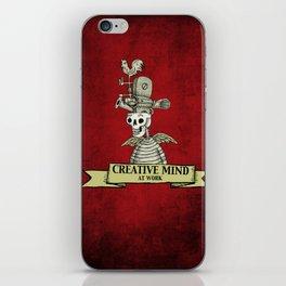 CREATIVE MIND AT WORK iPhone Skin
