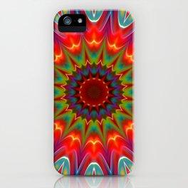 Colors kaleidoscope pattern iPhone Case