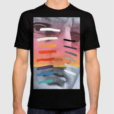Composition on Panel 4 Black MEDIUM Mens Fitted Tee