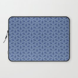 Original Handmade Pattern - Blue Tropical Leaves Laptop Sleeve