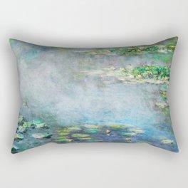 1906 Waterlily on Canvas.  Claude Monet . Vintage fine art. Rectangular Pillow