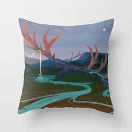 Becoming Earth Throw Pillow