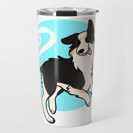 Black Tricolor Australian Shepherd Travel Mug