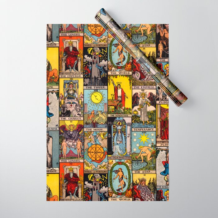 The Major Arcana Tarot Collage Wrapping Paper