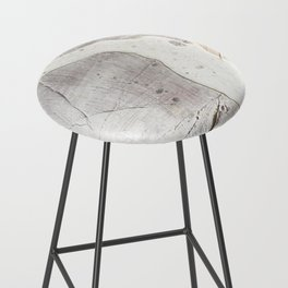Feels: a neutral, textured, abstract piece in whites by Alyssa Hamilton Art Bar Stool
