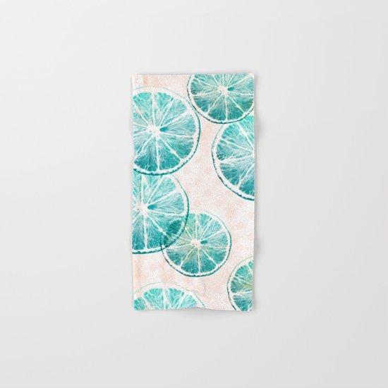 Turquoise citrus Hand & Bath Towel